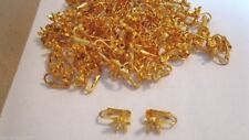 60 LOT Vintage Clip Earrings Goldtone Star W/ Add Your Own Stone Wholesale LOT