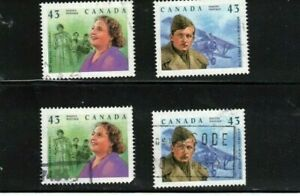 CANADA 1994 GREAT CANADIANS** BISHOP & TRAVERS 4 USED # 1525-26  LOT 451