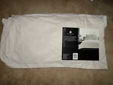 """Hotel Collection Fjord queen bedskirt- beige with 16"""" skirt drop, New!"""