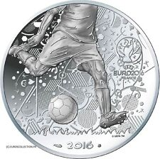 NEW EXTRAORDINARY COIN FRANCE 10 € EURO SILVER FOOTBALL CUP UEFA EURO 2016