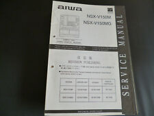 ORIGINALI service manual AIWA nsx-v150 nsx-v150mg