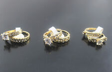 30pcs Wholesale Lots Clear Rhinestone Ring Lady's Gold P Fashion Rings AH533