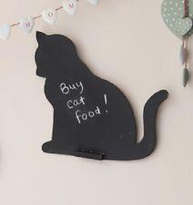 Cat Shaped Chalk Board Blackboard Memo Board 28x32cm Sass & Belle