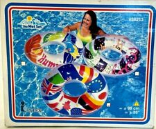 """New Old Stock Sealed Intex The Wet Set Flags 39"""" Inflatable Tube Ring Pool Float"""