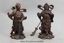 China Red Bronze copper Guan Gong Guan Yu  Wei Tuo Veda Warrior General Statue