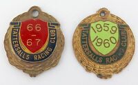 2 VINTAGE TATTERSALLS RACING CLUB, BRISBANE MEMBERS BADGES. 1959 / 1960, 1966-67