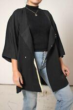 Vintage Japanese Haori Kimono in Black Jacquard Print