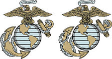 2 US Marine decals SEMPER FI  Die Cut  Free Shipping