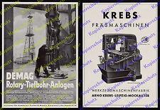 orig Reklame DEMAG Duisburg Tiefbohr-Anlagen Erdöl Rumänien Bukarest Motoiu 1939