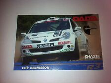 CP POSTCARD CARTOLINA RENAULT CLIO BERNISSON RALLY RALLYE 2007