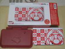 Nintendo 3DS LL XL Mario Club limited with Red Battery charge stand From Japan