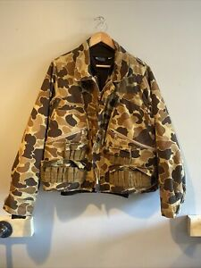 Vintage RARE Columbia Mens M Hunting 3 In 1 Camo Jacket Duck Coat