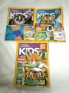 3 National Geographic Kids Magazines Sept, Nov, Dec 2020 With Gifts (new)