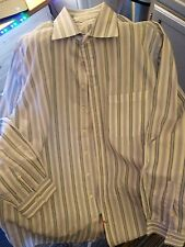 Burberry London 100% Cotton Blue Striped Men's Dress Shirt  Size 17 - 43