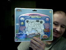 KIDS PEPPA PIG MAGNA DOODLE ETCH A SKETCH VARIANT IDEAL HOME DRAWING TOY
