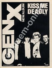 Generation X Billy Idol Kiss Me Deadly 'The Face' '45 advert