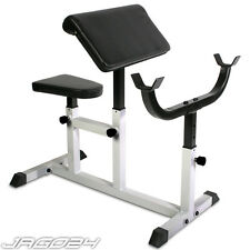 Adjustable Preacher Bicep Arm Curl Weight Bench Home Gym Equipment Barbell Rack