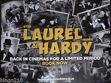 LAUREL & HARDY ROADSHOW ORIGINAL 2015 CINEMA QUAD POSTER STAN AND OLLIE