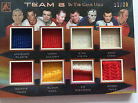 Team 8 In The Game 2017 Game Used Hockey Card # 11/20