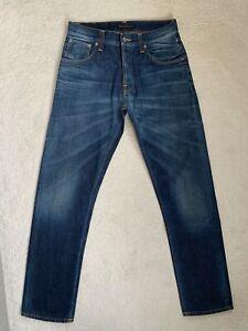 Men's Nudie Big Bengt Slim Straight Jeans W30 L32 (D156)