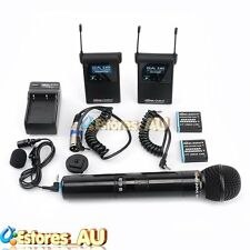 ROWA FC-2410 Dual Channels Wireless Stereo Microphone For Canon Nikon Camcorder