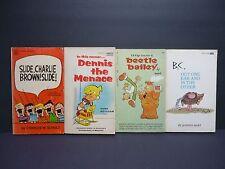 Vintage Humor Paperback Books Lot of 4 Charlie Brown B.C. Dennis Menace Beetle
