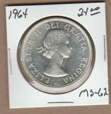 1964 Canadian Silver Dollar Coin - MS-62