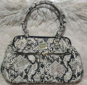 Marc Fisher Faux Snake Print Satchel Bag Purse Shoulder Bag Animal Print