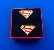 Superman Superhero Cufflinks Comic Character Wedding Gift Groom (New)