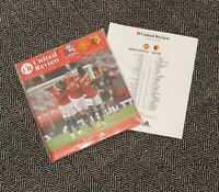 Manchester Uited v Watford FA CUP 3RD ROUND Programme 9/1/21! READY TO POST!!!