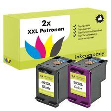 2 PATRONEN für HP 302 XXL OfficeJet 4654 3830 3831 4650 DeskJet 2130 3630 1110