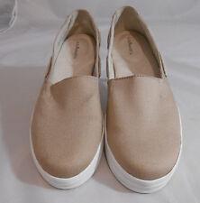 G.H. Bass & Co. EXPLORE Tan Canvas Slip On Flats Deck Shoes  Women's Size 7.5 M
