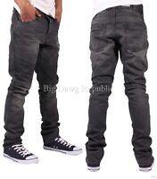 Emporio Seven Mens Boys Slim Fit Biker Style Jeans Hip Club Time Is Hop Money