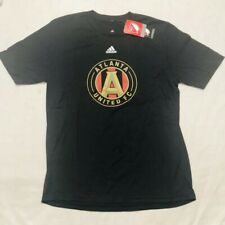 Adidas Atlanta United FC Soccer Tee Youth Size Xl/18 Black Short Sleeve Football
