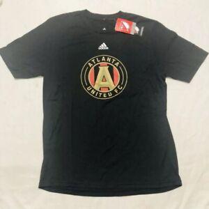 Adidas Atlanta United FC Soccer Tee Youth Size Xl/18 Black Short Sleeve Football
