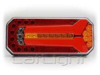 2 Stück LED Rückleuchten mit neon Rücklicht und dynamischer Blinker 12 / 24 Volt