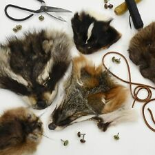 Fur Faces - Choose Type - Craft Grade Taxidermy Scrap Mask - Fox Coyote Raccoon