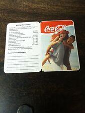 Coca Cola Taschenkalender Faltkalender 1990