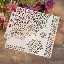 DIY Flower Coffee Stencil Cake Baking Templates Scrapbooking Card Painting Decor