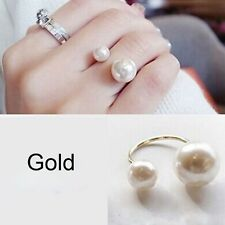 Simple Design Imitation Fashion StreetSnap Pearls Jewelry Adjustable Finger Ring
