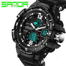 Fashion Men Sports Army Military Digital Dual Time Quartz Wrist Watch Waterproof