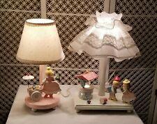 Lot of 2 Vintage Irma Nursery Plastics Wood Scene Nursery Child's Lights