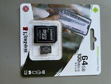 New 64GB Memory card, for CCTV camera use along with other uses, Kingston Tech.