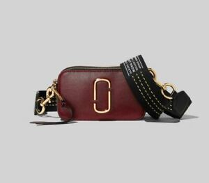 NWT Genuine Marc Jacobs Snapshot Small Camera Bag Crossbody cranberry multi sale