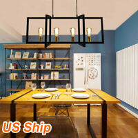 4 Light Kitchen Island Hanging Pendant Lighting Ceiling Fixture Dining Room US