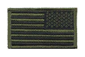 Condor Reverse US Flag Morale Patch - Olive - 230-001REV - Hook Back