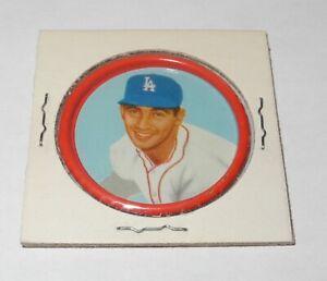 1963 Salada Tea Baseball Coin Pin #4 Sandy Koufax Los Angeles Dodgers Near Mint