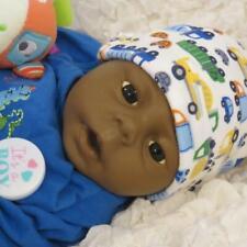 "Precious 17"" Ethnic AA Anatomically Boy Newborn Baby Doll ~  For Reborn or Play"