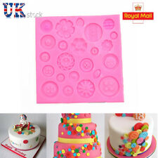 Silicone tray Flower Button Fondant Chocolate Mould Cake Decor Icing Sugar Mold