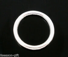 100 PCs SP Soldered Closed Jump Rings 14x2mm Findings